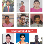 """Photographs of some people. In the middle, text saying """"IDIA Harvest 2017"""""""