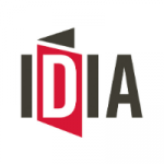 IDIA logo in black, red and white colours.